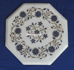 Marble Inlaid Mosaic Table Top Coffee Corner Living Room Decor Arts Gifts 12