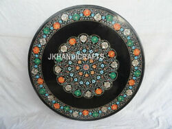 36 Black Marble Dining Table Top Coffee Mother Of Pearl Malachite Decor Gifts