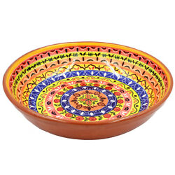 Hand-painted Portuguese Pottery Clay Terracotta Salad Bowl