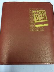 Used Vintage Matchbook Cover Album And 170 + Covers And Unused Pages U