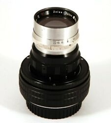 Ex+ Zeiss Opton Sonnar 135mm F/4 Lens Red T Modified To Canon Ef Mount 70033