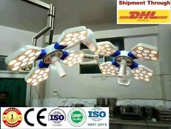 Examination Led Ot Light 135000lux Double Dome Operating Ceiling Light Ossio 404