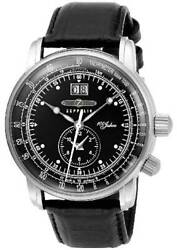 Zeppelin 100 Year Anniversary Model Black Dial 7640-2 Mens New Tracking