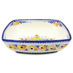 Hand-painted Traditional Portuguese Pottery Ceramic Large Salad Bowl