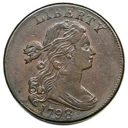1798 S-167 Draped Bust Large Cent Coin 1c