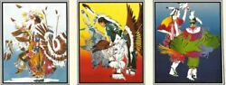 Classic Lithograph Set Of 3 By Donald Ruleaux Sioux