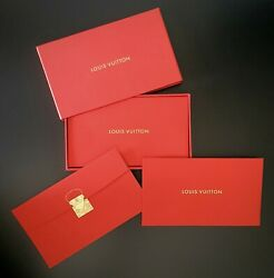 12 Pack Authentic Louis Vuitton Red Vip Chinese New Year Money Envelopes Boxed