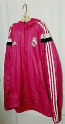 Real Madrid Official Training Jacket Adidas Pink Size M