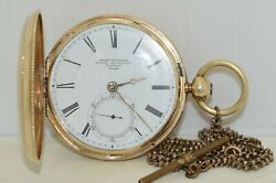 Antique Jeremiah Robbins Royal Exchange Pocket Watch In Candc Gold Hunting Case