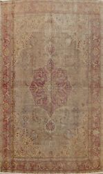 Antique Floral Traditional Area Rug Hand-made Living Room Oriental Carpet 8x11