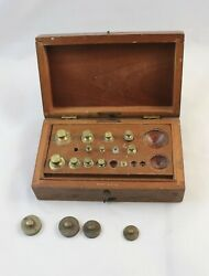 Antique Apothecary/pharmacist Balance Weight Set Frederick Stearns And Co.