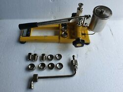 Nagano Keiki Pd75 Pressure Tester, Dead Weight Tester, 200 Bar Without Weights