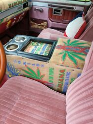 Rat Rod Center Console Cup Holder Dodge Chevy Ford Hot Rod Truck Mj Burlap Nr