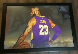 Lebron James Framed Plastic Poster Los Angeles Lakers Not Signed 39 1/2 X 27 1/2