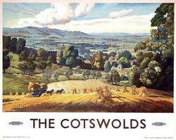 wall and deco The Cotswolds British railway railroad travel poster 8x10quot; print