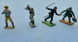 """Antique Vintage """"britains"""" Lead Toy Soldiers """"made In England"""""""