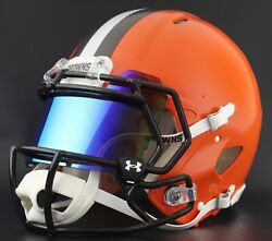 Cleveland Browns Authentic Gameday Football Helmet W/ Under Armour Eye Shield