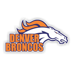 Denver Broncos Sticker / Die Cut Decal For Laptop Window Car Truck Table Wall