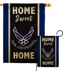 Home Sweet Air Force Garden Flag Armed Forces Decorative Gift Yard House Banner