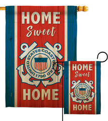Home Sweet Coast Guard Garden Flag Armed Forces Decorative Yard House Banner