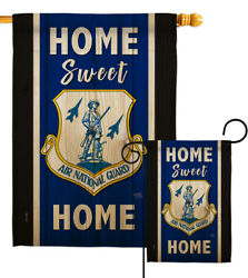 Home Sweet Air National Guard Garden Flag Armed Forces Army Yard House Banner