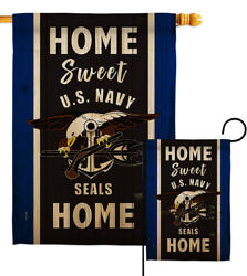 Home Sweet Us Navy Garden Flag Armed Forces Decorative Gift Yard House Banner