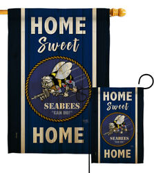 Home Sweet Seabees Garden Flag Armed Forces Navy Gift Yard House Banner