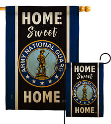 Home Sweet National Guard Garden Flag Armed Forces Army Gift Yard House Banner