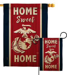 Home Sweet Marine Corps Garden Flag Armed Forces Decorative Yard House Banner