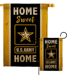Home Sweet Us Army Garden Flag Armed Forces Decorative Gift Yard House Banner