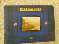 Antique 1880's Peterson's Magazine Engravings Post Cards And More Scrapbook Lot