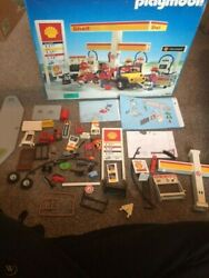 Playmobil Shell Gas Station 3437 Not Complete