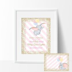 Dumbo Time Capsule Sign And Message Cards 1st Birthday Diy