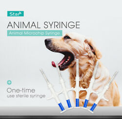 Animal Tag Microchip Syringe 134.2khz Fdx-b Chip Icar Glass Tag Injector For Pet