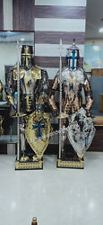 New Stainless Steel Fully Wearable Medieval Templar Knight Full Suit