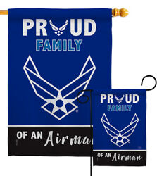 Proud Family Airman Garden Flag Armed Forces Air Force Gift Yard House Banner