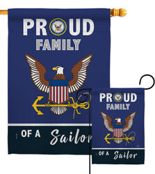 Proud Family Sailor Garden Flag Armed Forces Navy Gift Yard House Banner