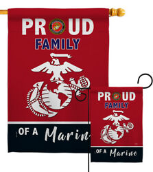 Proud Family Marines Garden Flag Armed Forces Marine Corps Gift House Banner