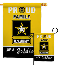 Proud Family Soldier Garden Flag Armed Forces Army Gift Yard House Banner