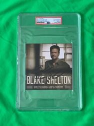 Blake Shelton Signed Cd Booklet Fully Loaded Autograph Psa/dna Authenticated
