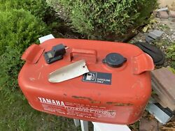 Vintage Yamaha Outboard Motor Gas Fuel Tank 3.7 Gallon Red Tank