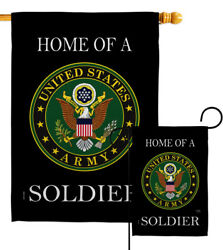 Home Of Army Soldier Garden Flag Armed Forces Decorative Gift Yard House Banner