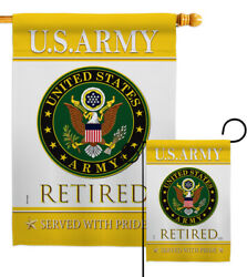 Us Army Retired Garden Flag Armed Forces Small Decorative Gift Yard House Banner