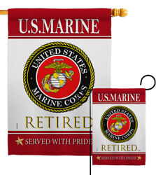 Us Marine Retired Garden Flag Armed Forces Corps Decorative Yard House Banner