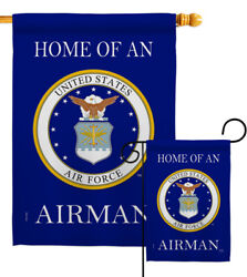 Home Of Airman Garden Flag Armed Forces Air Force Decorative Yard House Banner