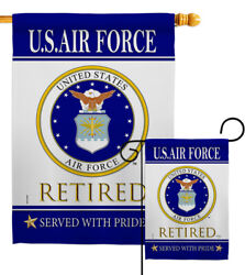 Us Air Force Retired Garden Flag Armed Forces Decorative Gift Yard House Banner
