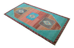 63andprime X 130andprime Hand Knotted Area Rug Turkish Tribal Wide Runner Neon Rug 5andprime3andprimex10andprime10andprime