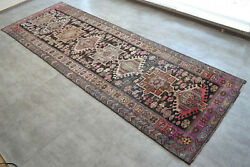 52″ X 151″ Hand Knotted Area Rug Turkish Tribal Large Runner Rug 4′4″x12′7″