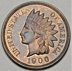 1900 Proof Indian Head Cent Gem Uncirculated Pr Pf 1c Type Coin