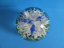 Murano Aquarium Art Glass 4.5 Globe, Dolphins, Flower And Bubbles Solid Glass